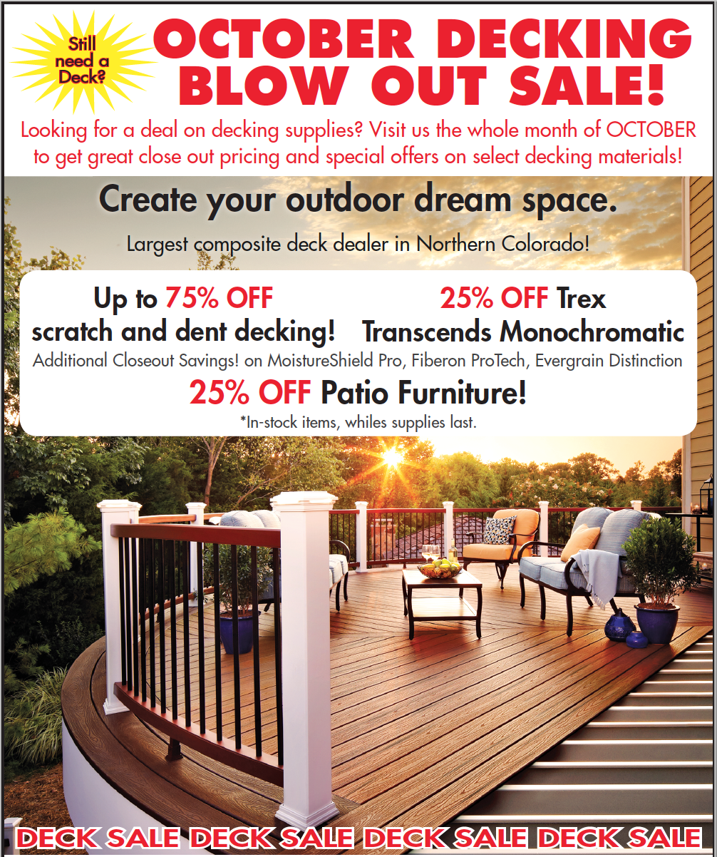 October Decking Blowout Sale, click for more.