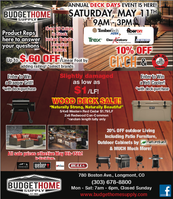 Annual Deck Days Event is Here, click for more.